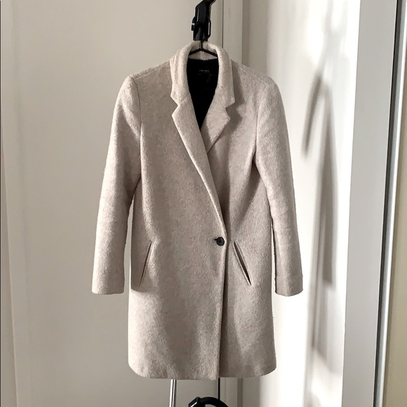 Zara Cotton Fleece Dress Coat